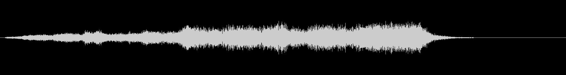 ホラー系効果音09の未再生の波形