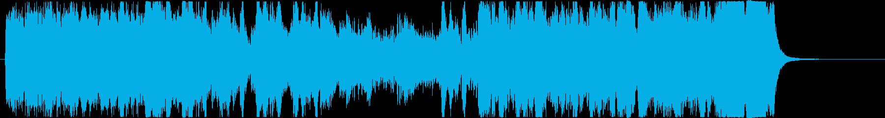 躍動感あるゲーム・動画OP向け/オケ楽曲の再生済みの波形