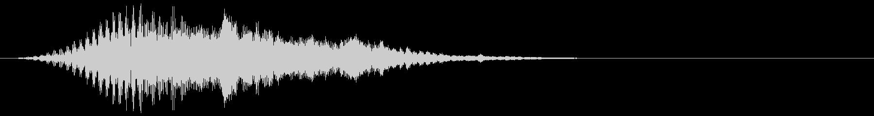 Tremoloによるフィードバック...の未再生の波形