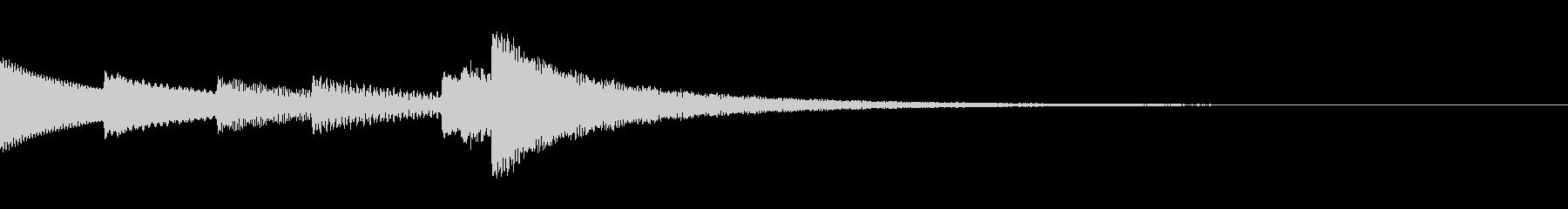 清らかな印象のベルを使用したジングルの未再生の波形