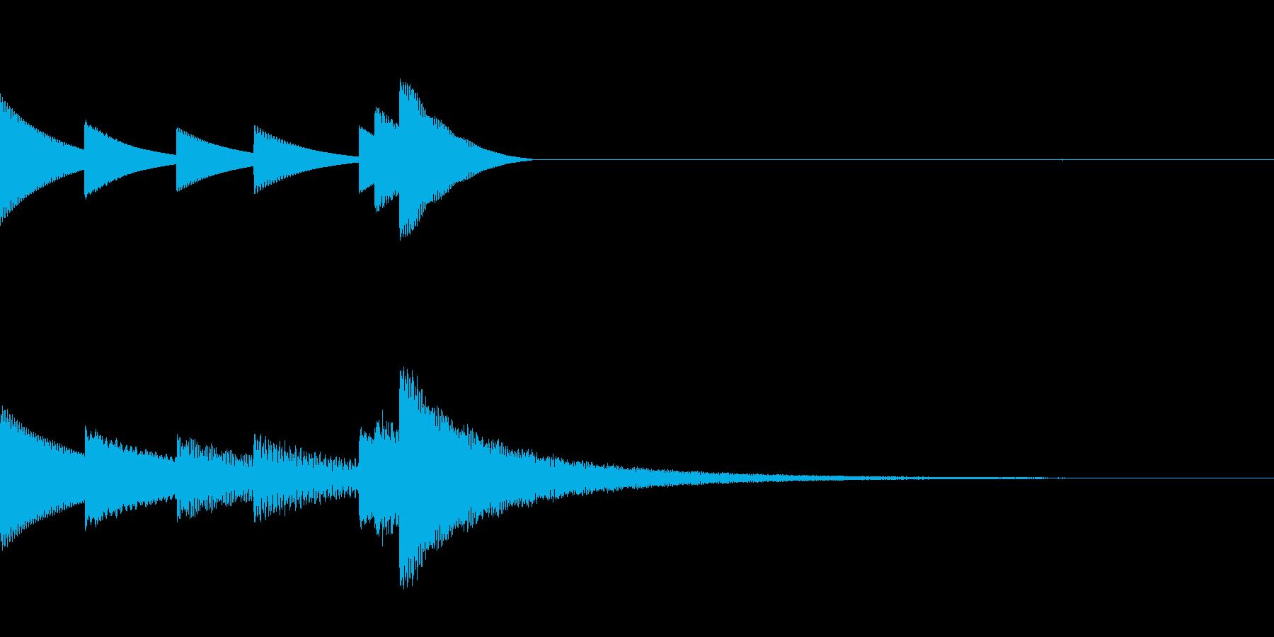 清らかな印象のベルを使用したジングルの再生済みの波形