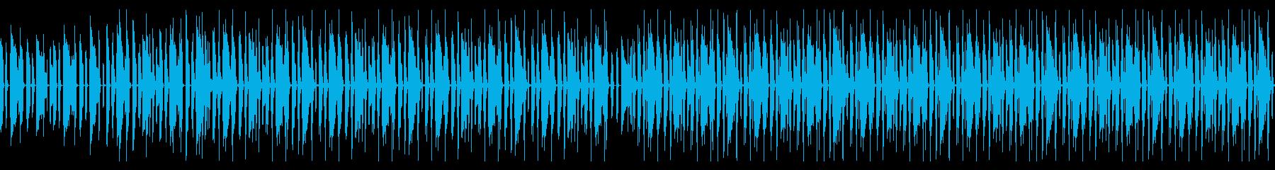 淡々としながらもノリの良いBGM ループの再生済みの波形