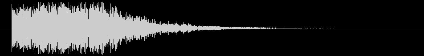 【キャンセル音】歪な,セレクト,ボタン音の未再生の波形