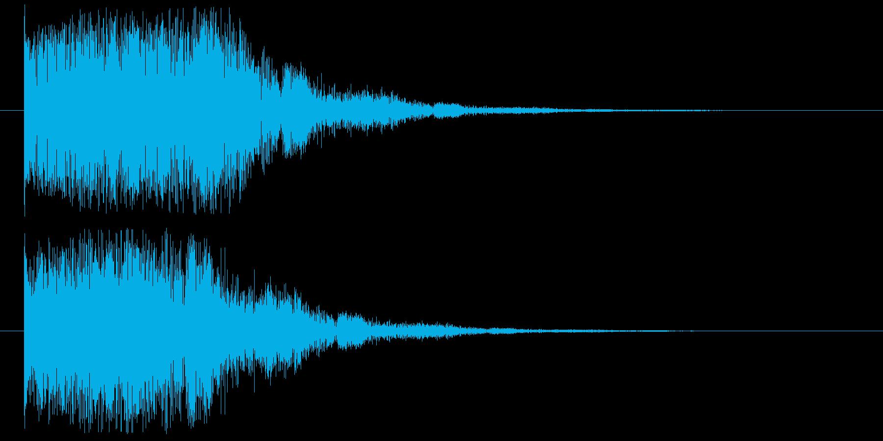 【キャンセル音】歪な,セレクト,ボタン音の再生済みの波形
