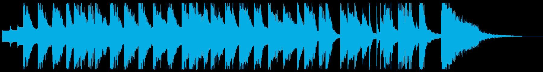 ファミコンのようなゲームBGMの再生済みの波形