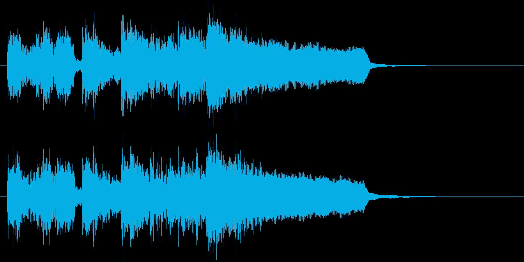 軽快な楽しいアイキャッチ、フルート生演奏の再生済みの波形