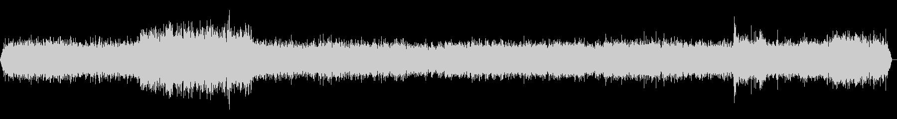 新幹線車内走行音 環境音(バイノーラル)の未再生の波形