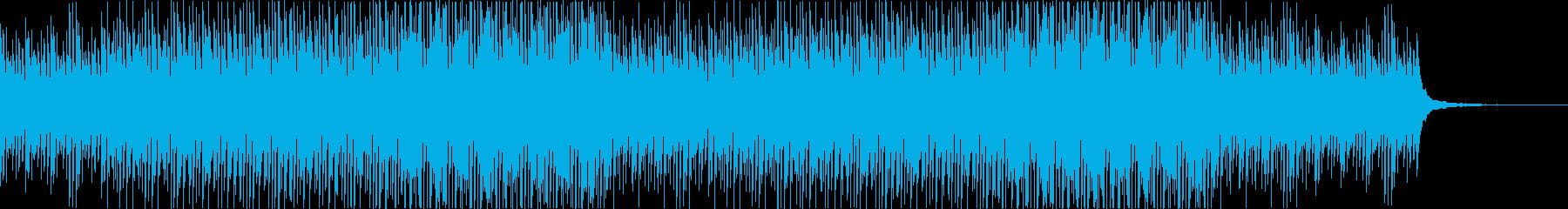 映像用かわいい優しいピアノとリズムの再生済みの波形