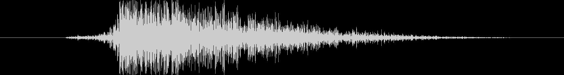メタル アックスヒットメタル01の未再生の波形