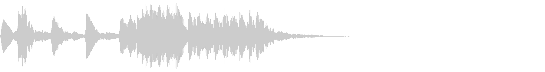 低い音のレベルアップ音【1】の未再生の波形