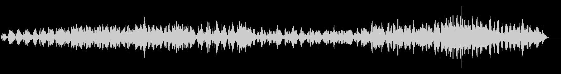 ハープの疾走感あふれる曲の未再生の波形