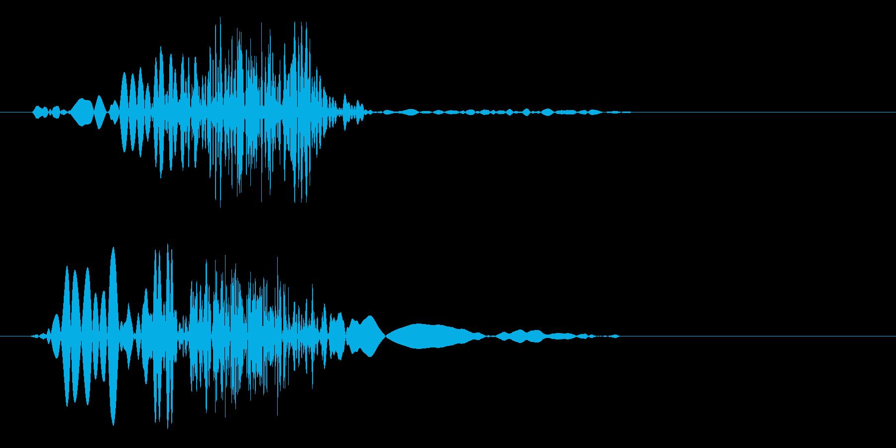 ビュッ(攻撃や風切り音)の再生済みの波形