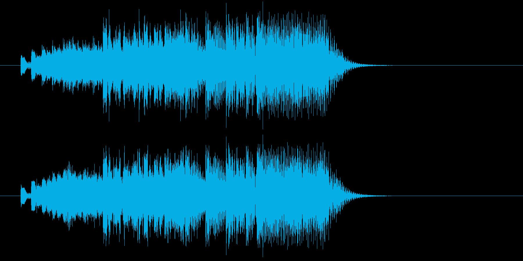 近未来のハイテクなテクノポップジングルの再生済みの波形