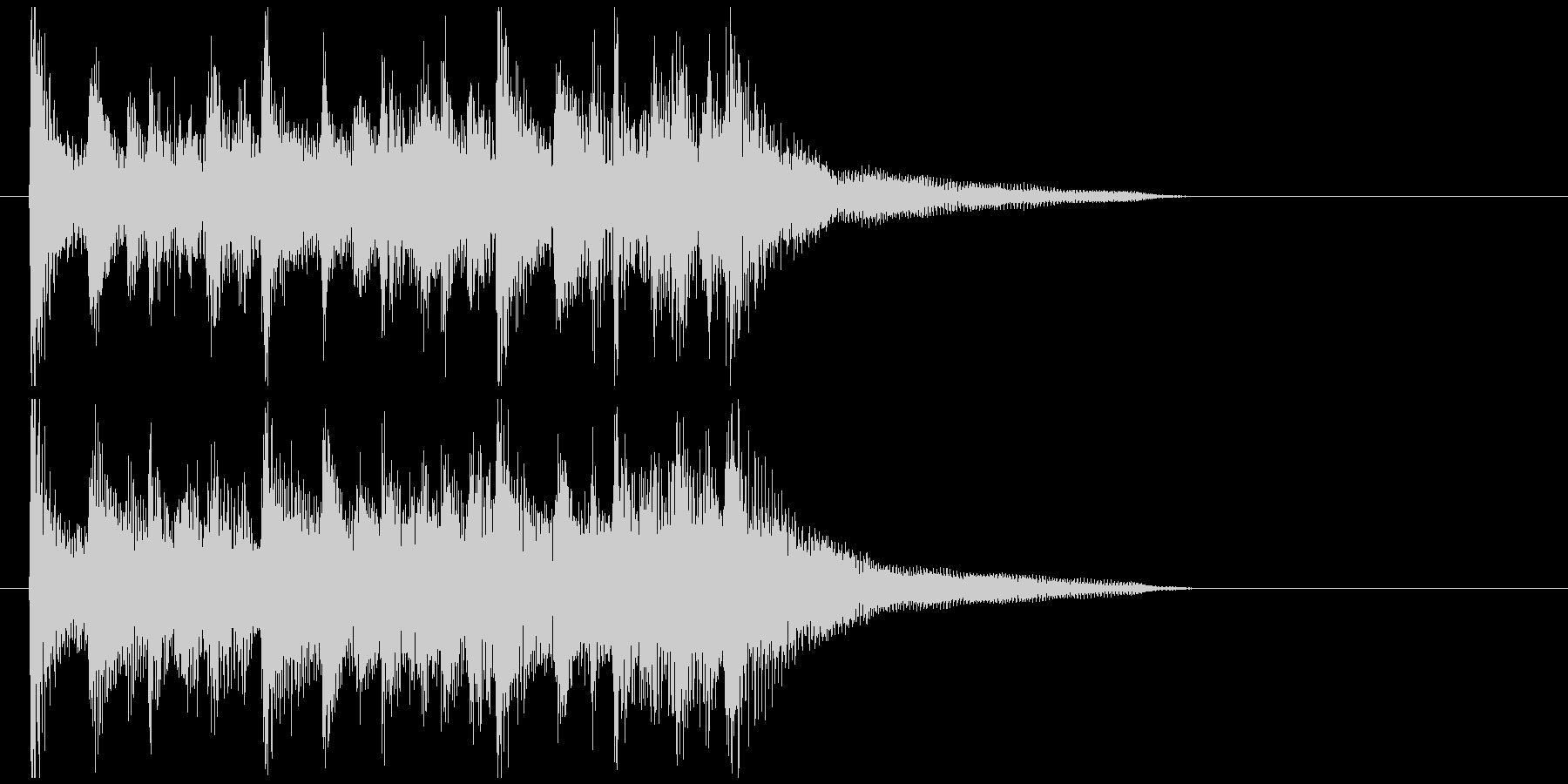 ウクレレ生演奏のハワイっぽい元気ジングルの未再生の波形