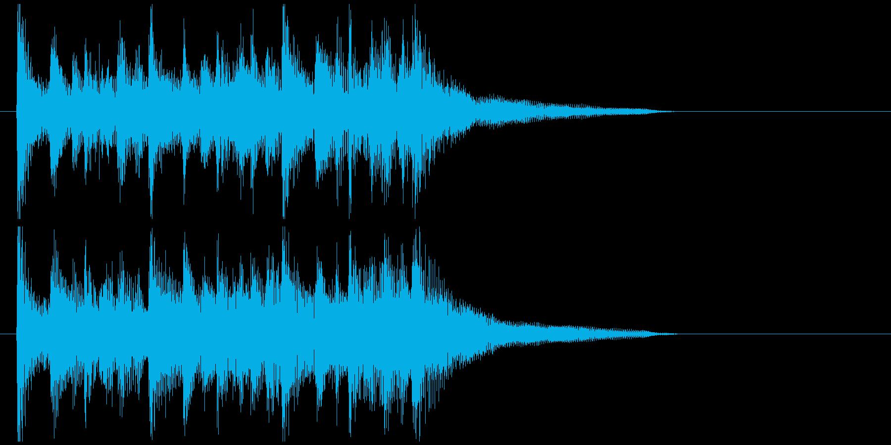 ウクレレ生演奏のハワイっぽい元気ジングルの再生済みの波形