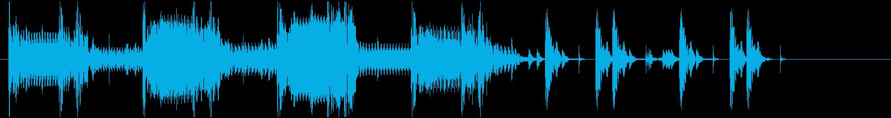 先住民の再生済みの波形