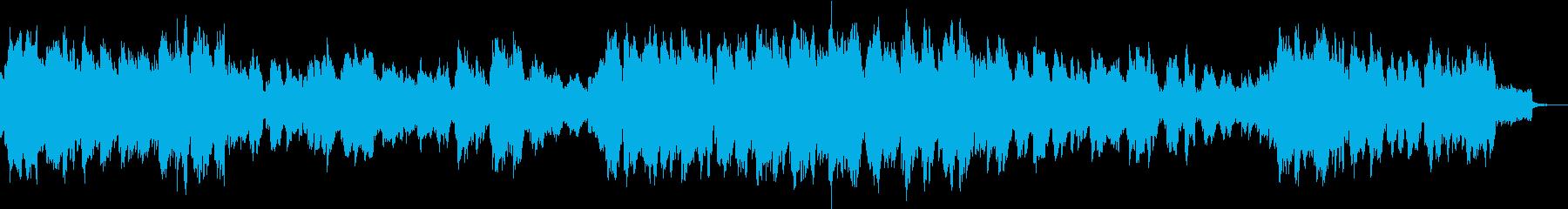 不思議な感じのBGMの再生済みの波形