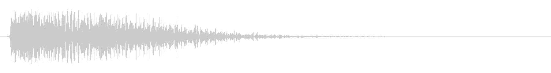 HitMetalヒットメタルインパクト1の未再生の波形