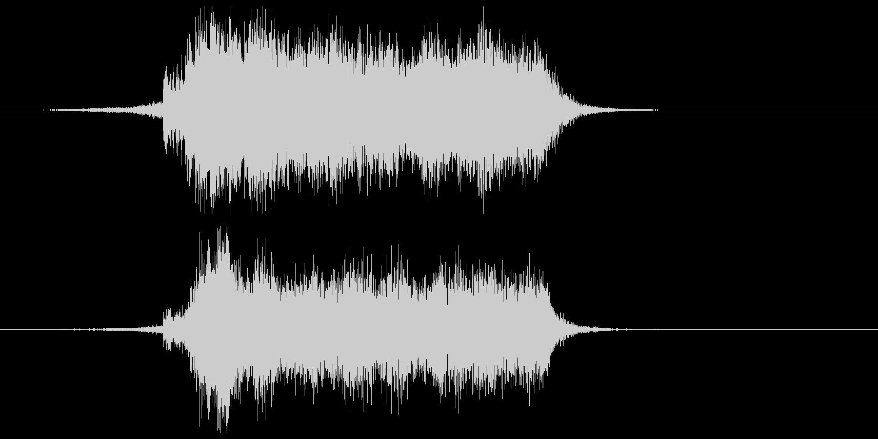 壮大なフルオーケストラのサウンドの未再生の波形