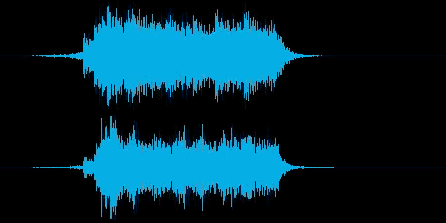壮大なフルオーケストラのサウンドの再生済みの波形