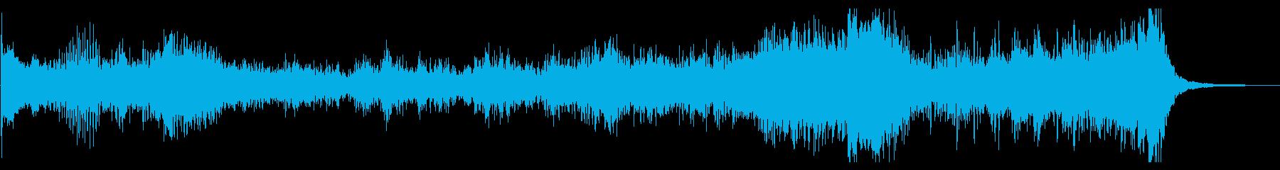 和太鼓やドラによる不穏なリズムのみの音楽の再生済みの波形