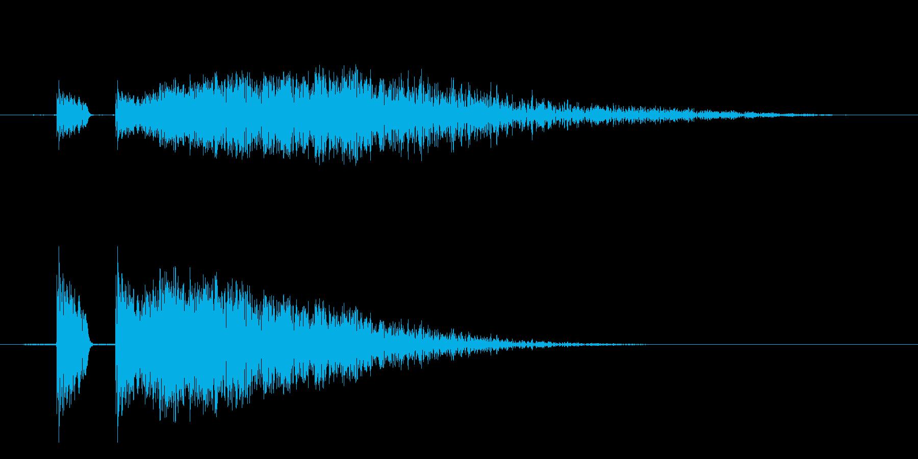 【ビシッ!】リアルなビンタに最適効果音!の再生済みの波形