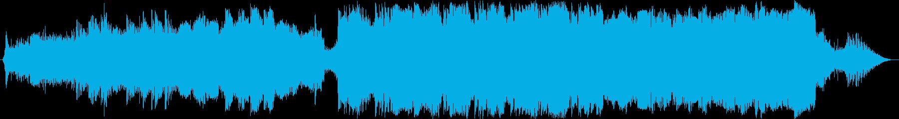 叙情的なピアノのシネマティックな音楽の再生済みの波形
