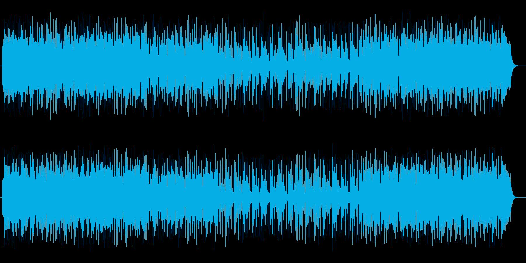 軽快で勢いのあるシンセが特徴のポップスの再生済みの波形