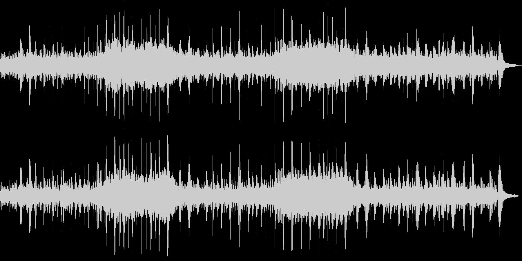 海の中をイメージしたソロピアノの未再生の波形