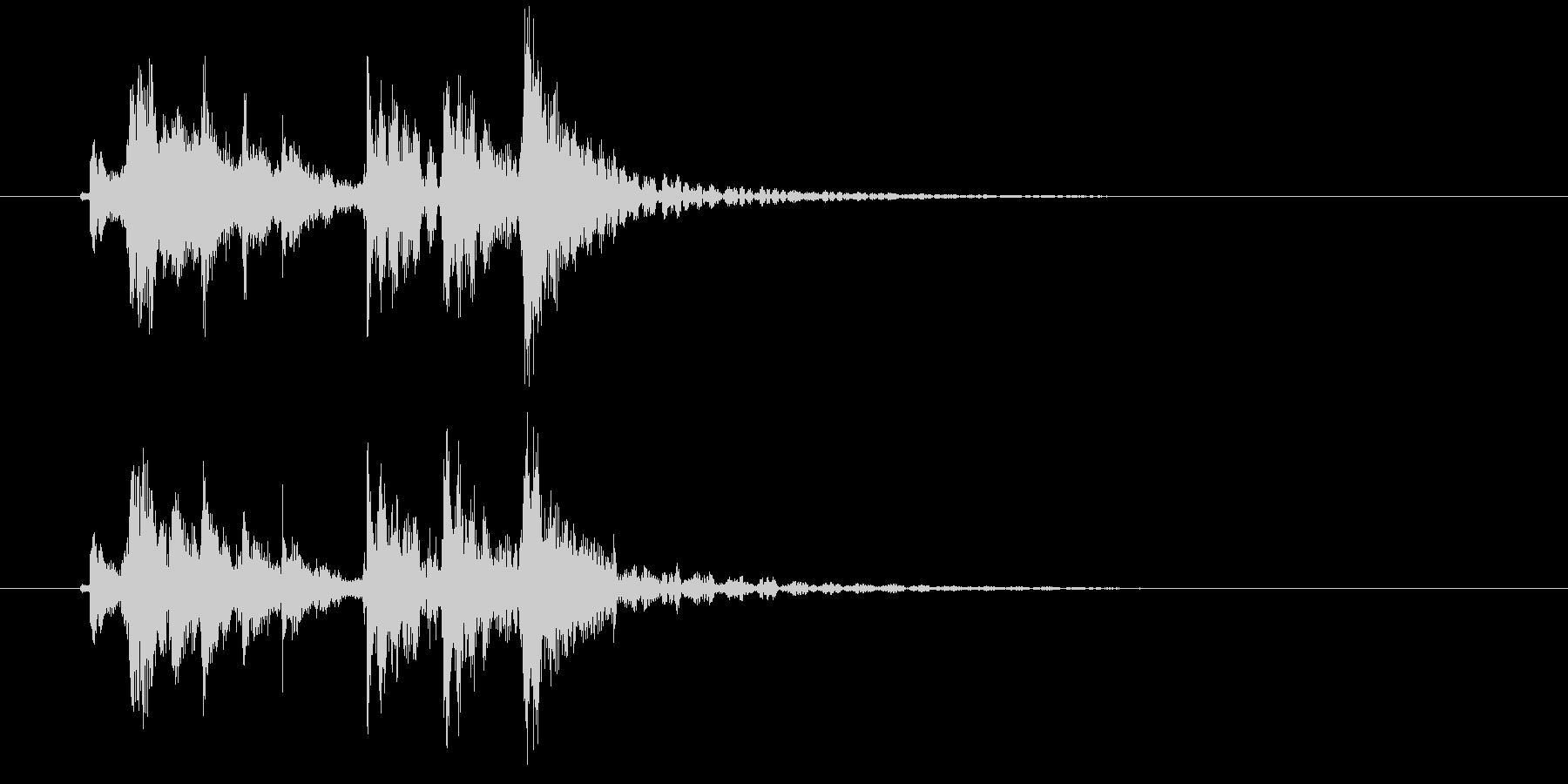 三味線と和太鼓による和風ジングル・おわりの未再生の波形
