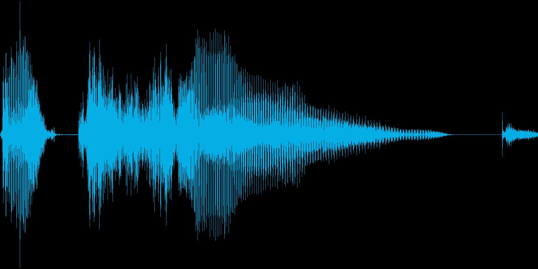 エクセレント!女の子の声の再生済みの波形