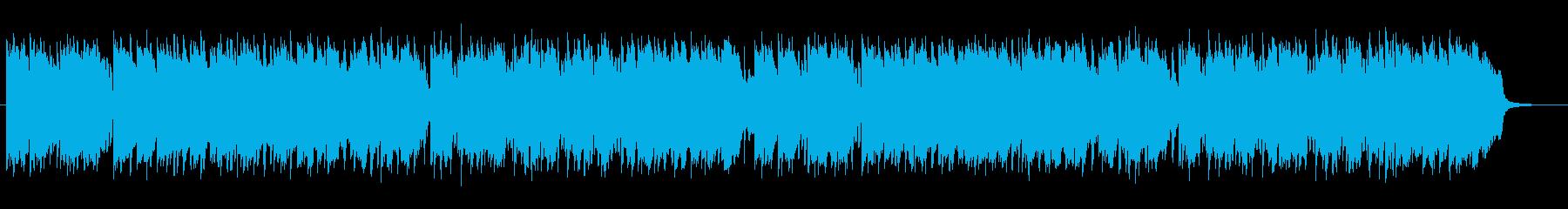 落ち着いたムードのあるミュージックの再生済みの波形