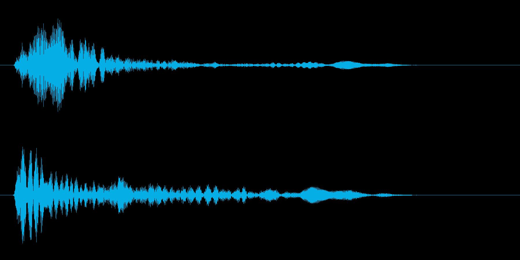 ポン(金属・電子音)の再生済みの波形