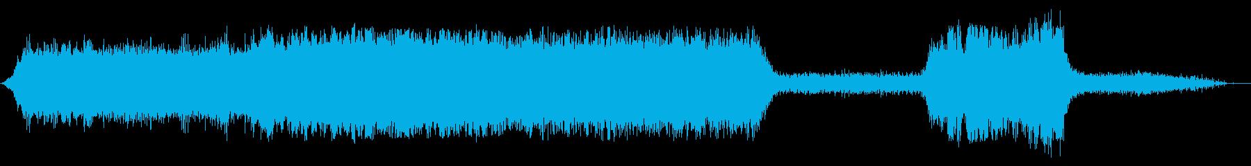 両生類ツインプロップ飛行機:内線:...の再生済みの波形