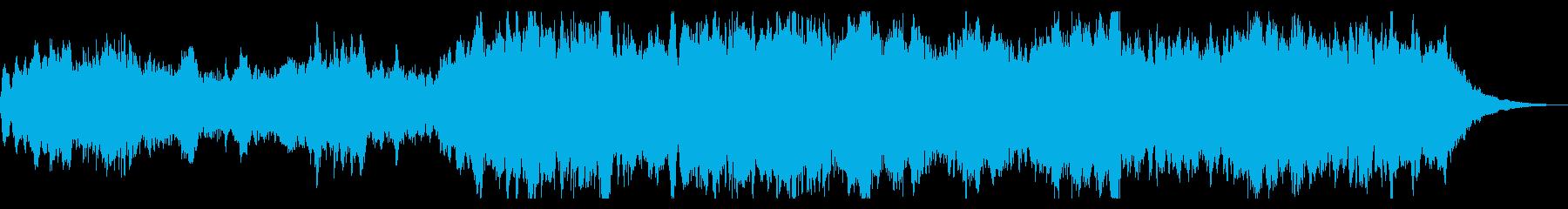 シネマチック、ダークなオープニングの再生済みの波形