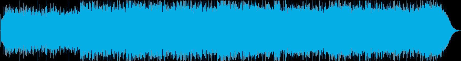 暗く不気味な和風ホラー曲の再生済みの波形