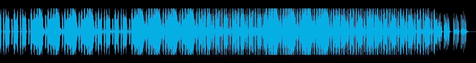 緊迫感のあるエレクトロニカの再生済みの波形
