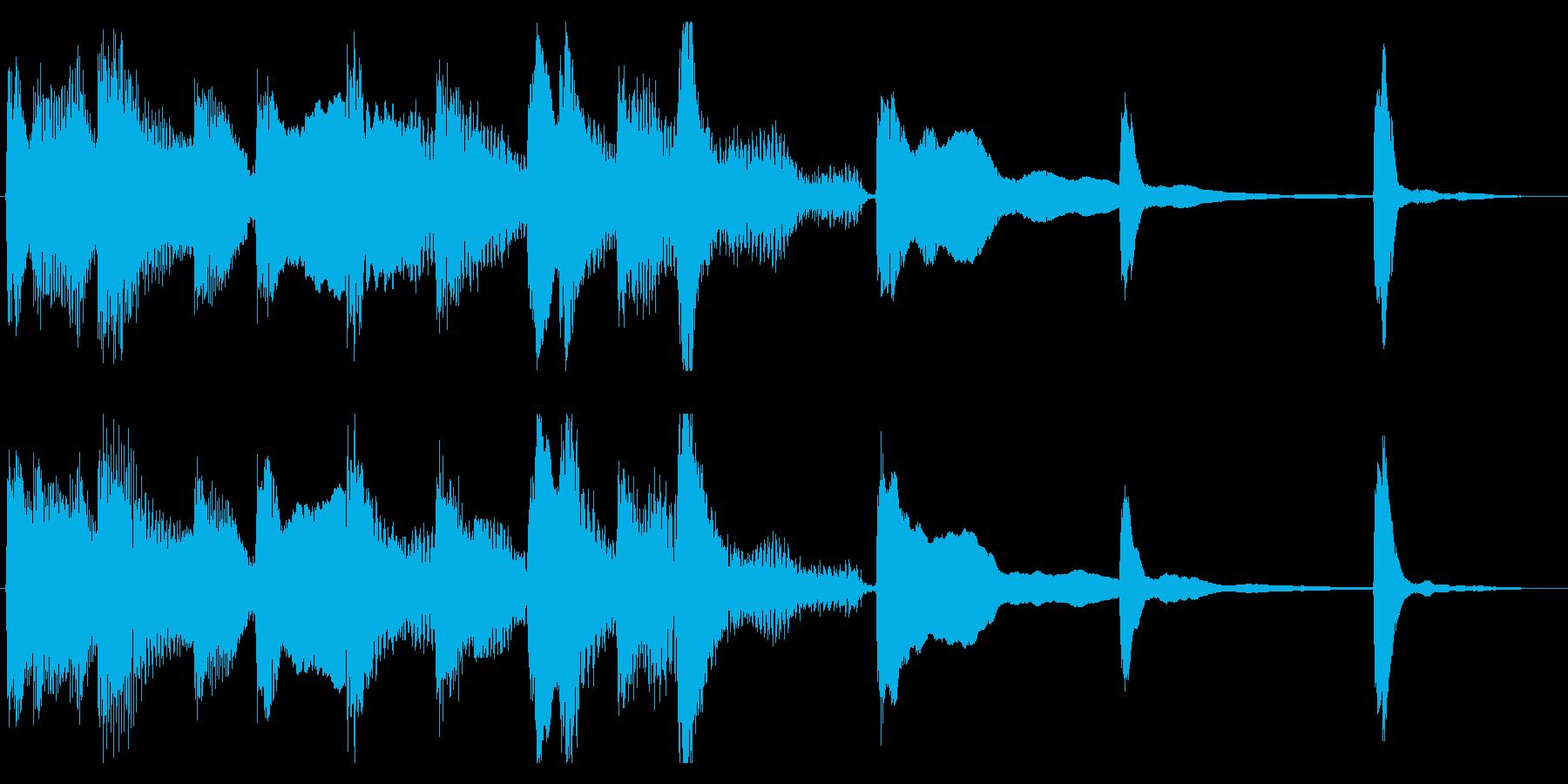 エレクトリックピアノのジングルの再生済みの波形