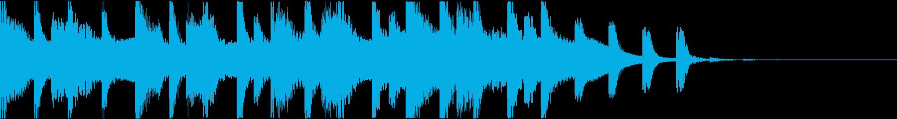 【CM用】電子ドラムとインド風メロディの再生済みの波形