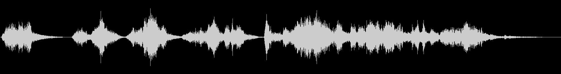 残響する渦巻くボーカルシューという音の未再生の波形