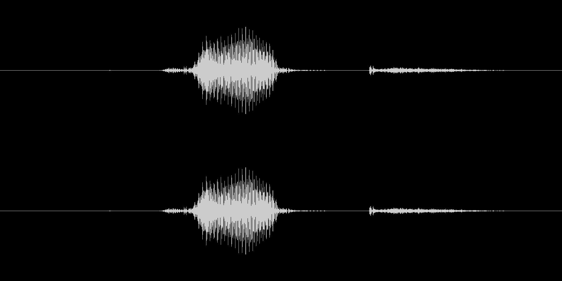 【数字】6(ろく)の未再生の波形