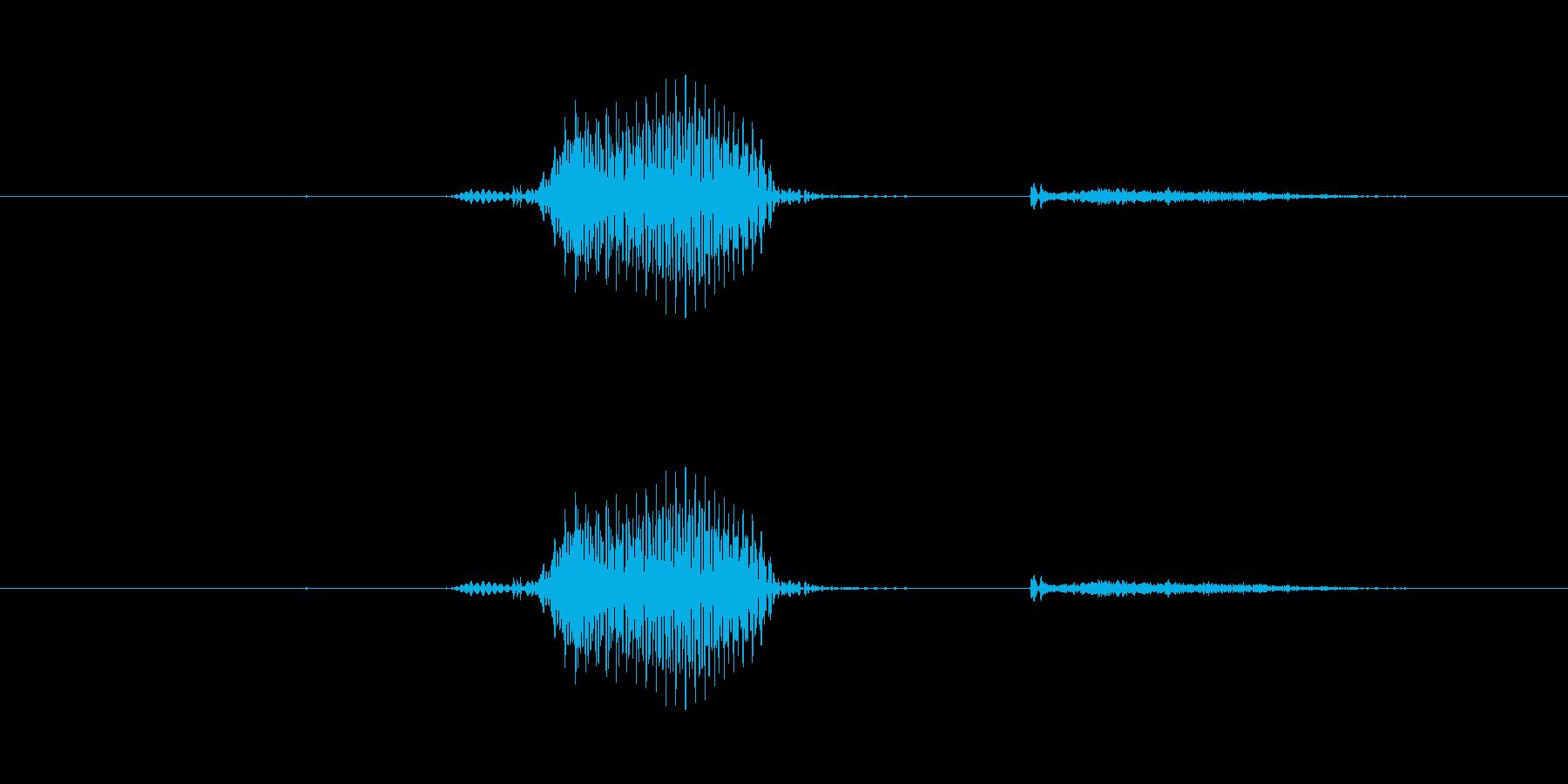 【数字】6(ろく)の再生済みの波形