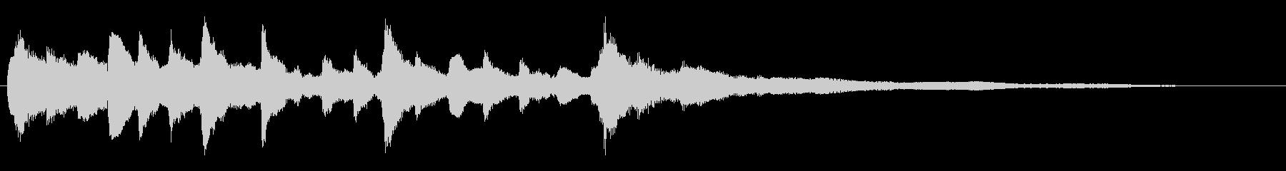 キラキラ輝くイメージ ピアノのジングルの未再生の波形