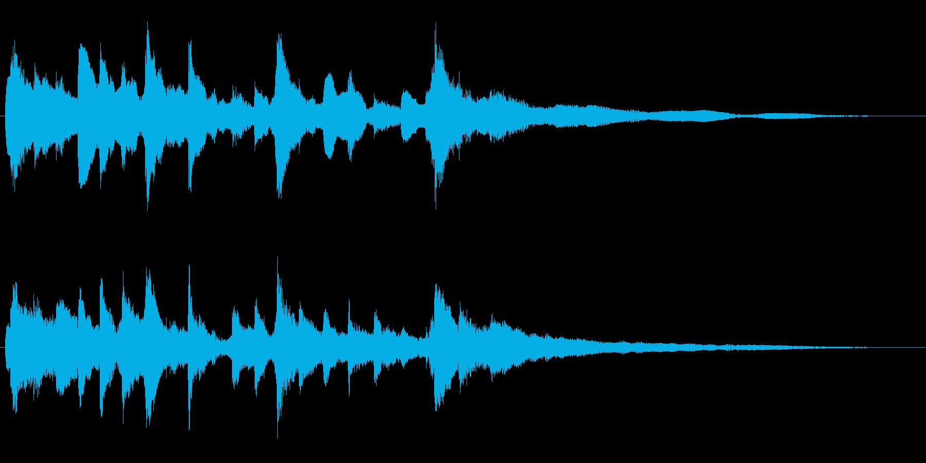 キラキラ輝くイメージ ピアノのジングルの再生済みの波形