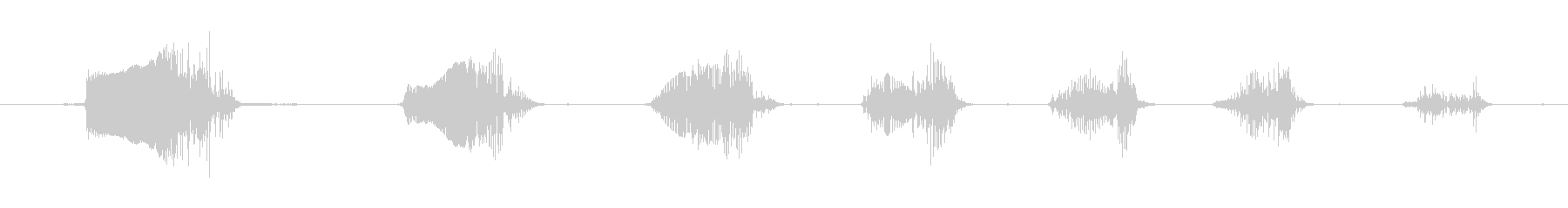 鳴き声 笑うグローター05の未再生の波形