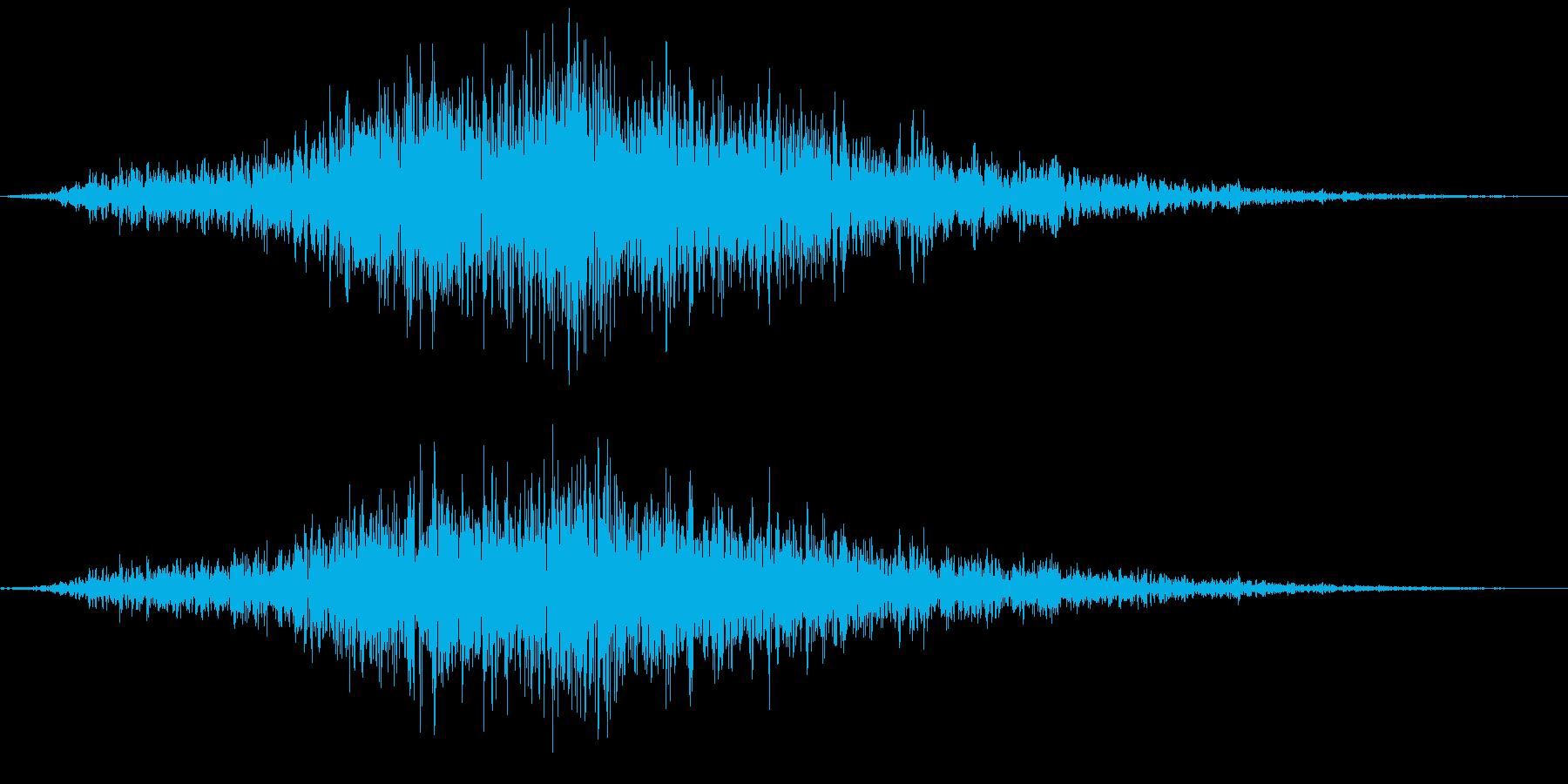 猫の威嚇(ギニャー)の再生済みの波形