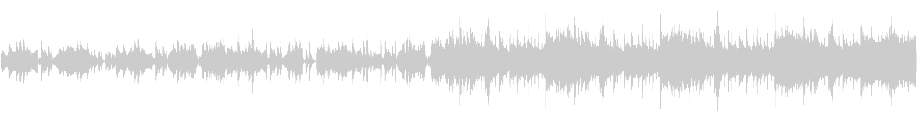 軽いピチカートほのぼのループの未再生の波形