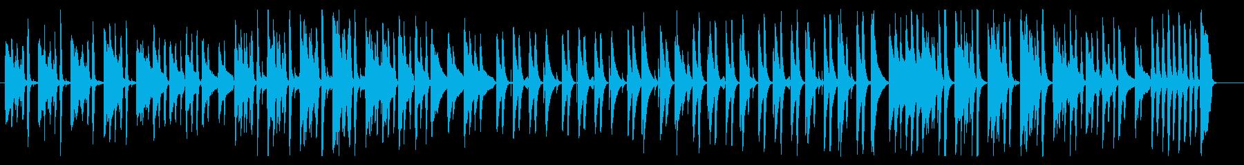 カワイイ・コミカルな雰囲気のインストの再生済みの波形