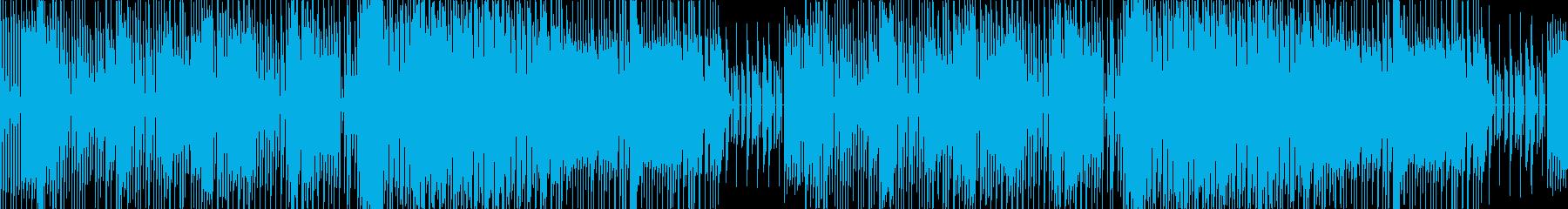 ループの昔懐かしいチップチューンbgmの再生済みの波形