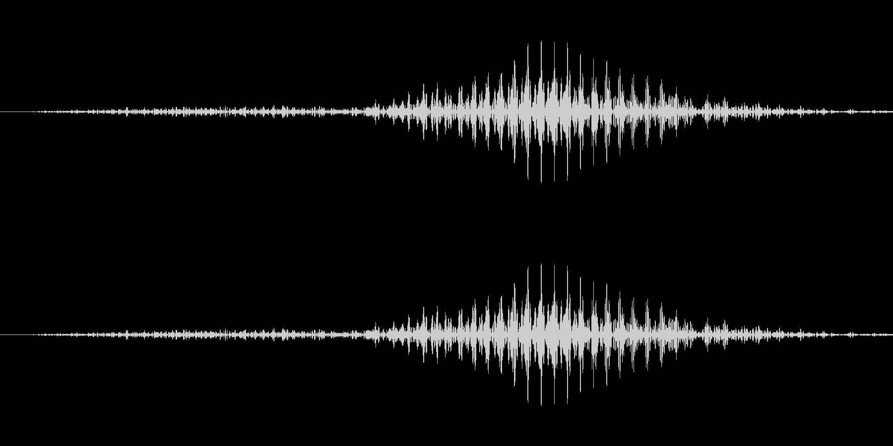は!(格闘系の声)の未再生の波形